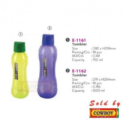 Water Tumbler BPA Free / Botol Air E-1161 / E-1162 / 750ml / 1000ml